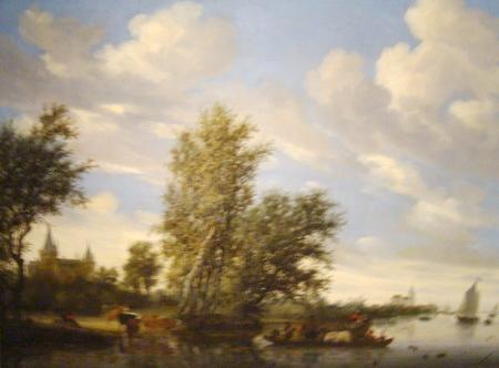 salomon-van-ruysdael-ferry-on-a-river