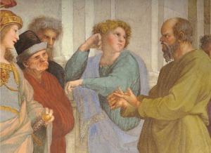 Rafael - Scoala din Atena - detaliu, Socrate