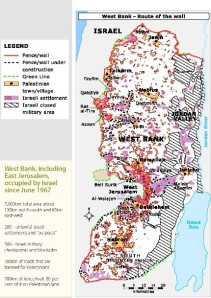 map of occupied west bank
