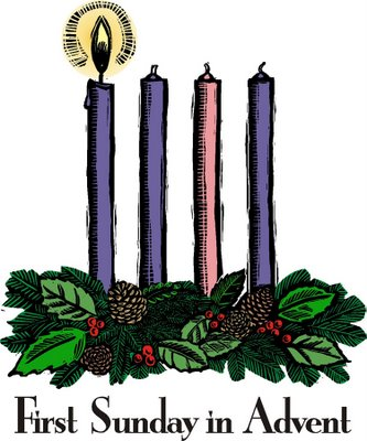 ... the first candle of the Advent wreath. This is the candle of HOPE