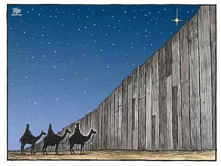 wise men at the wall