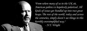 NT Wright on US politics