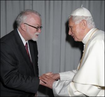 Timothy George & Pope Benedict XVI