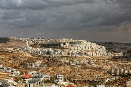 Illegal Isreali settlement overlooking Bethlehem