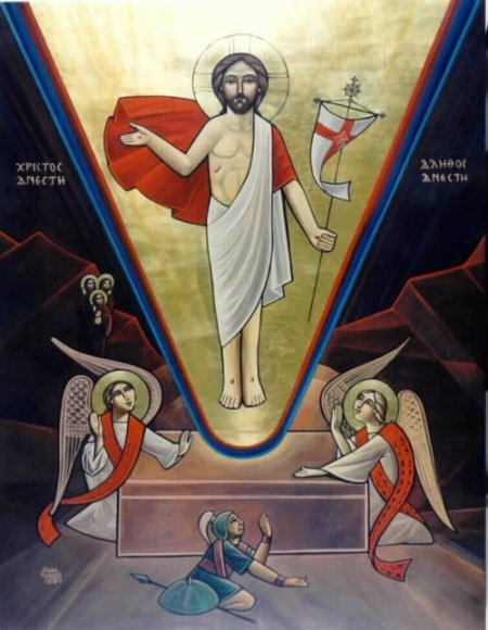 resurrection ikon - Coptic
