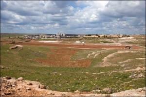 Earthwork on the site at Midyat, Turkey