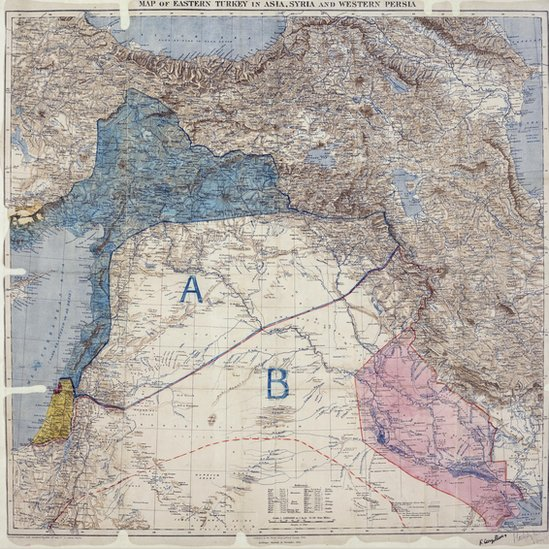 Middle East map - 8 May 1916