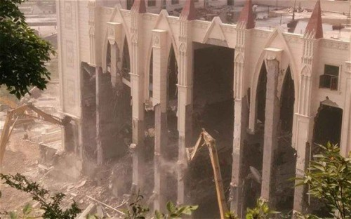 Sanjiang Church in Wenzhou demolished