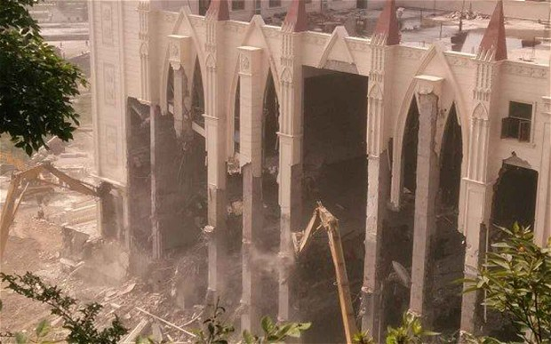 Sanjiang Church in Wenzhou demolished