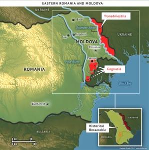 Eastern Romania and Moldova map