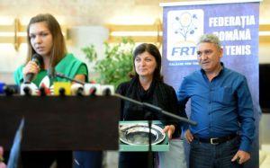 Simona Halep cu parintii