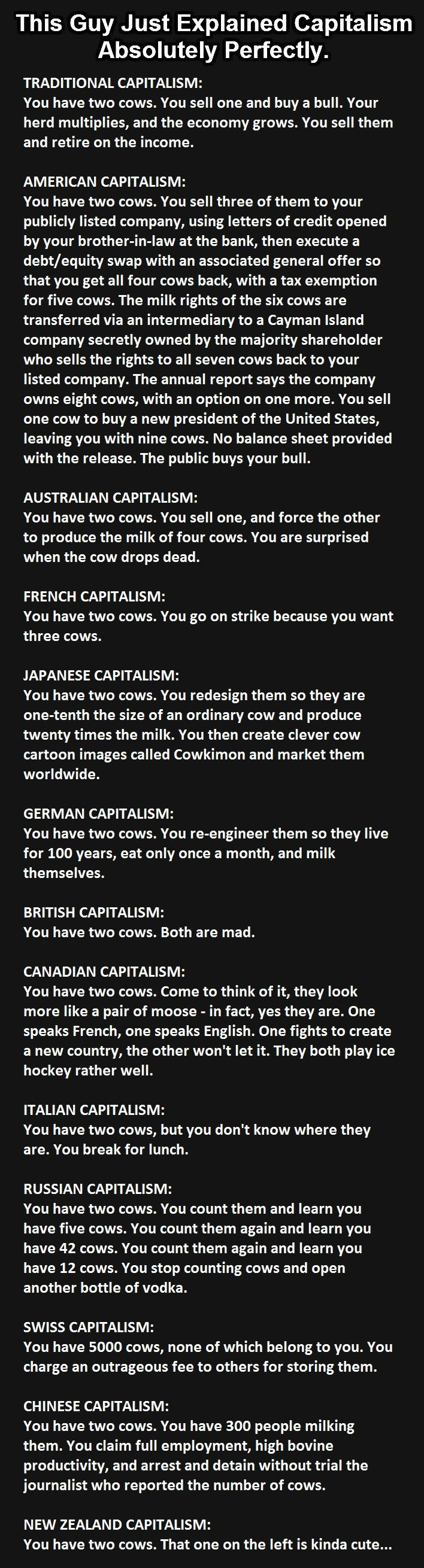 Capitalism Explained with Cows