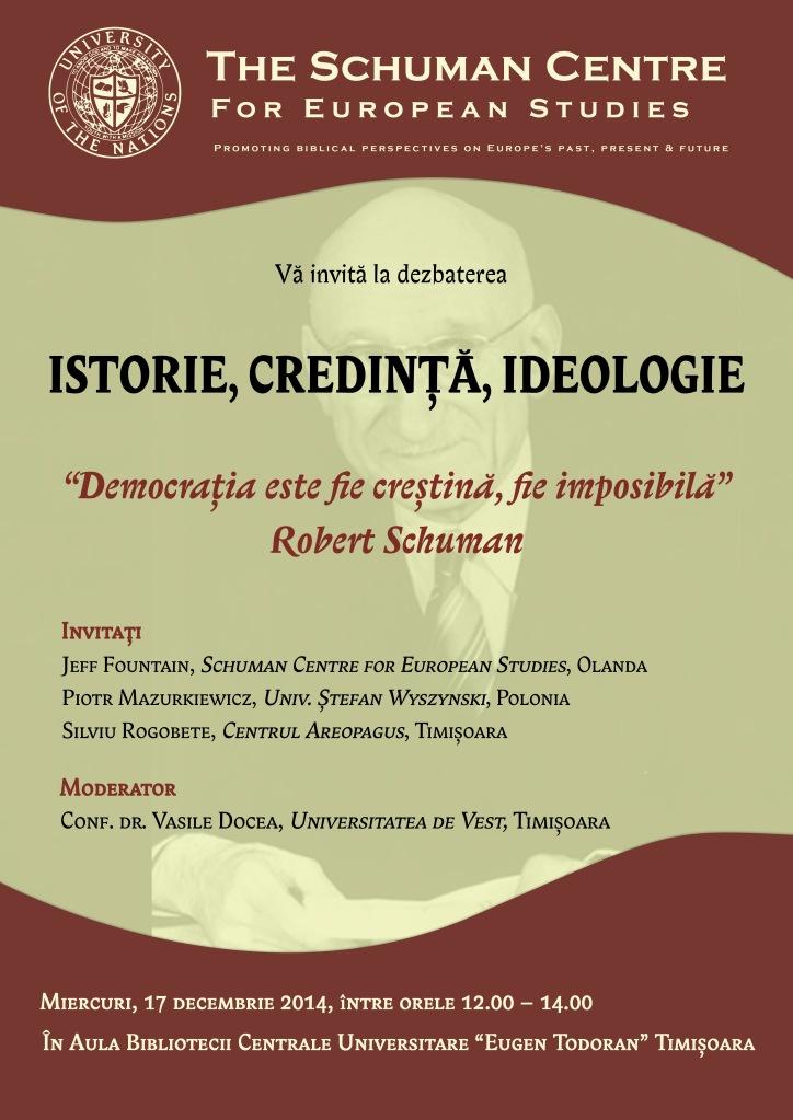 Istorie, credinta, ideologie - afis