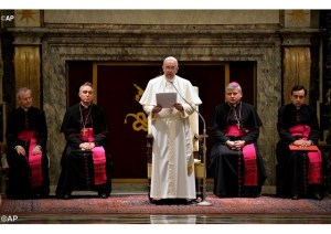 Pope Francis to Curia