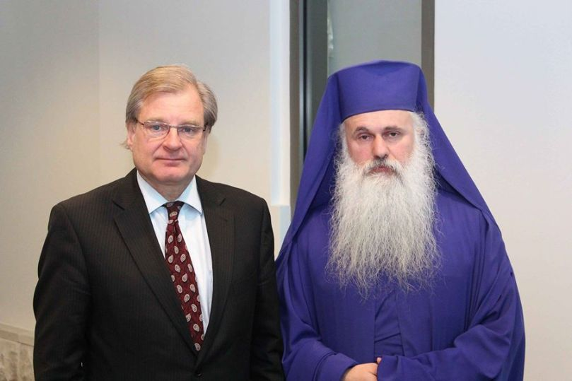 Richard Norland & Archbishop Malkhaz - Freedom Award reception