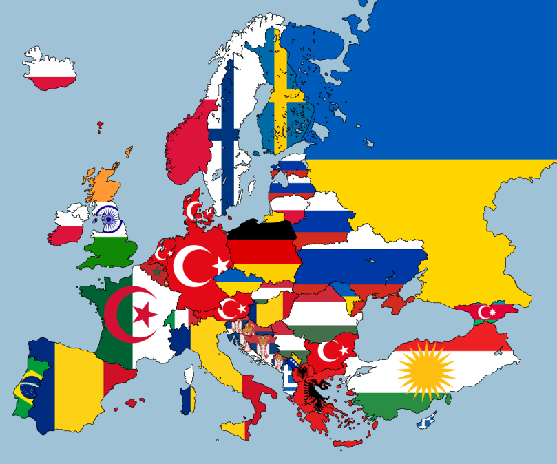 2nd Largest Nationality in Each Country in Europe