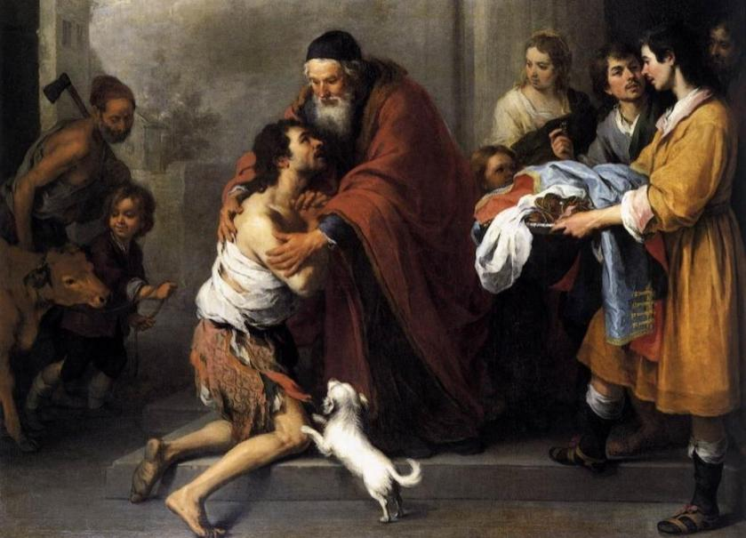The Return of the Prodigal Son by Bartolomé Esteban Murillo (1617-1682)