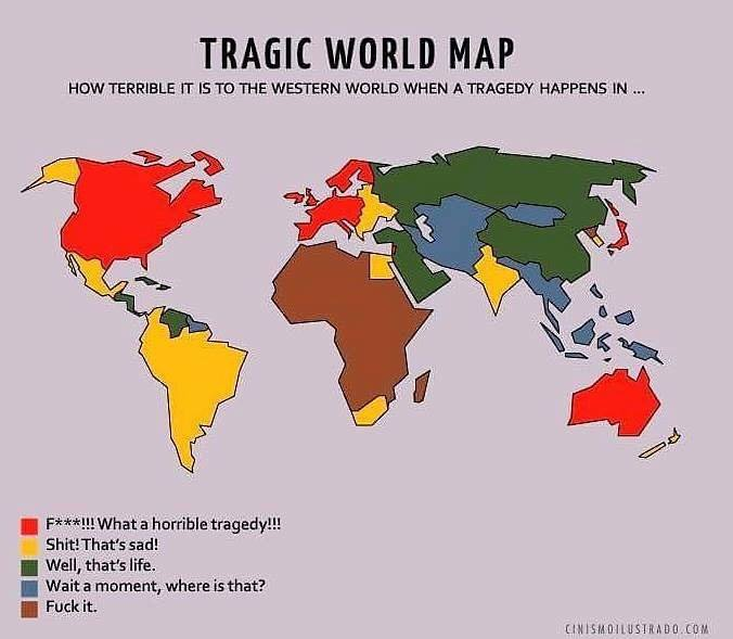 tragic world map