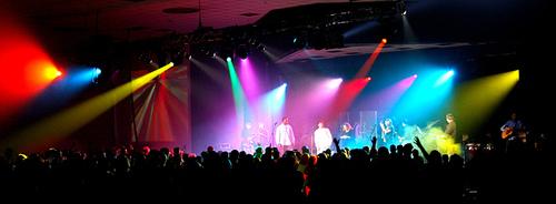 rock concert church service