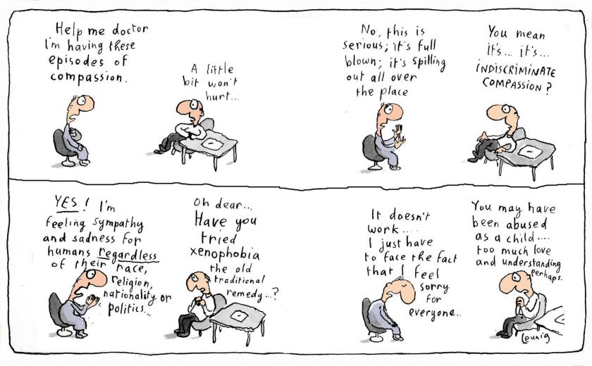 Leunig - an episode of indiscriminate compassion